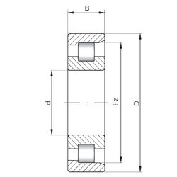 180 mm x 380 mm x 75 mm  Loyal NF336 E cylindrical roller bearings