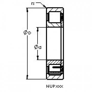 AST NUP2240 EM cylindrical roller bearings