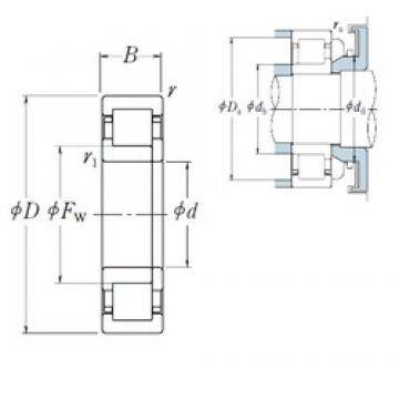 50 mm x 110 mm x 27 mm  NSK NUP 310 EW cylindrical roller bearings