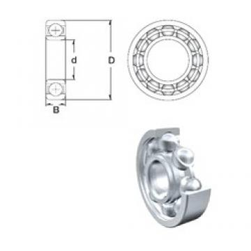 160 mm x 240 mm x 38 mm  ZEN 6032 deep groove ball bearings