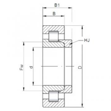 50 mm x 110 mm x 27 mm  ISO NH310 cylindrical roller bearings